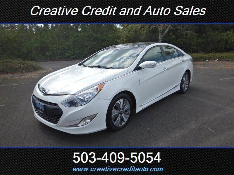 2015 Hyundai Sonata Hybrid for sale at Creative Credit & Auto Sales in Salem OR