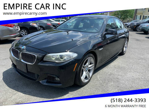 2013 BMW 5 Series for sale at EMPIRE CAR INC in Troy NY