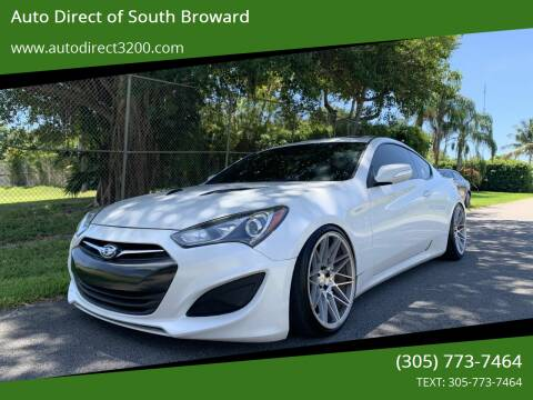 2013 Hyundai Genesis Coupe for sale at Auto Direct of South Broward in Miramar FL