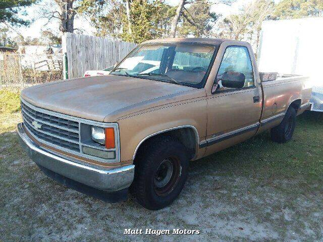 1989 Chevrolet C/K 1500 Series for sale at Matt Hagen Motors in Newport NC