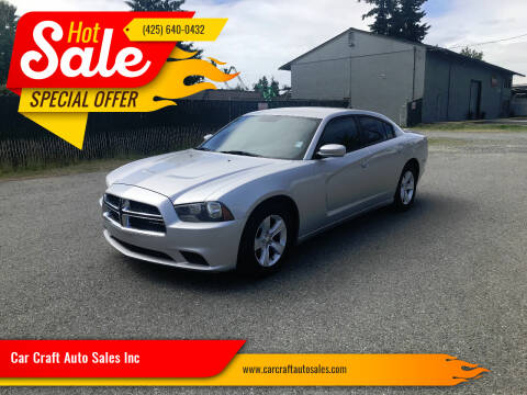 2012 Dodge Charger for sale at Car Craft Auto Sales Inc in Lynnwood WA