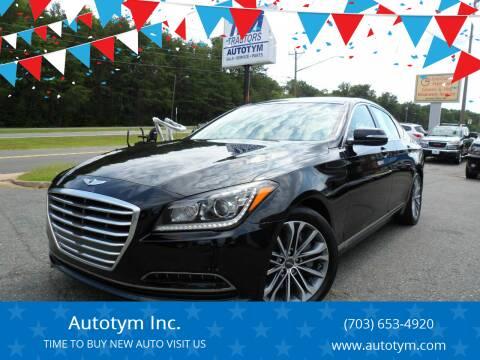 2016 Hyundai Genesis for sale at AUTOTYM INC in Fredericksburg VA