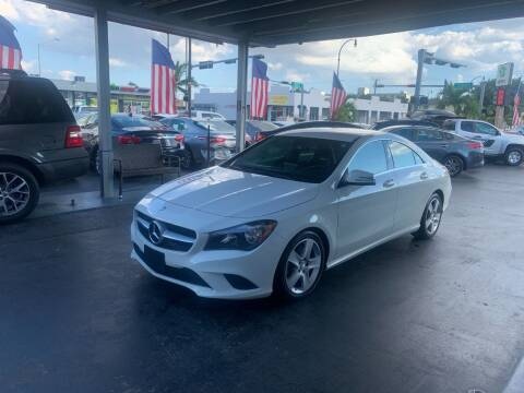 2016 Mercedes-Benz CLA for sale at American Auto Sales in Hialeah FL