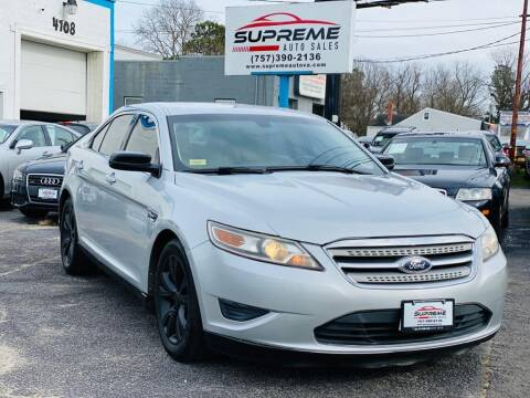 2011 Ford Taurus for sale at Supreme Auto Sales in Chesapeake VA