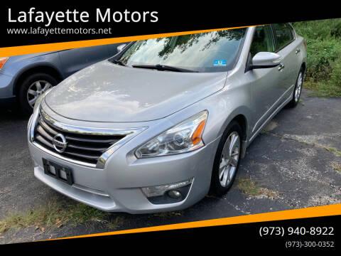 2013 Nissan Altima for sale at Lafayette Motors in Lafayette NJ