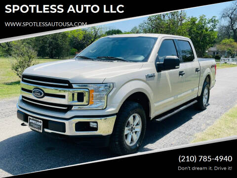 2018 Ford F-150 for sale at SPOTLESS AUTO LLC in San Antonio TX