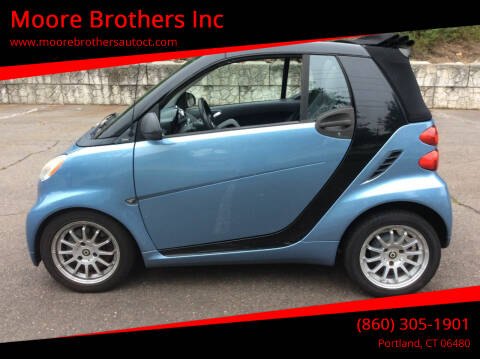 2011 Smart fortwo for sale at Moore Brothers Inc in Portland CT