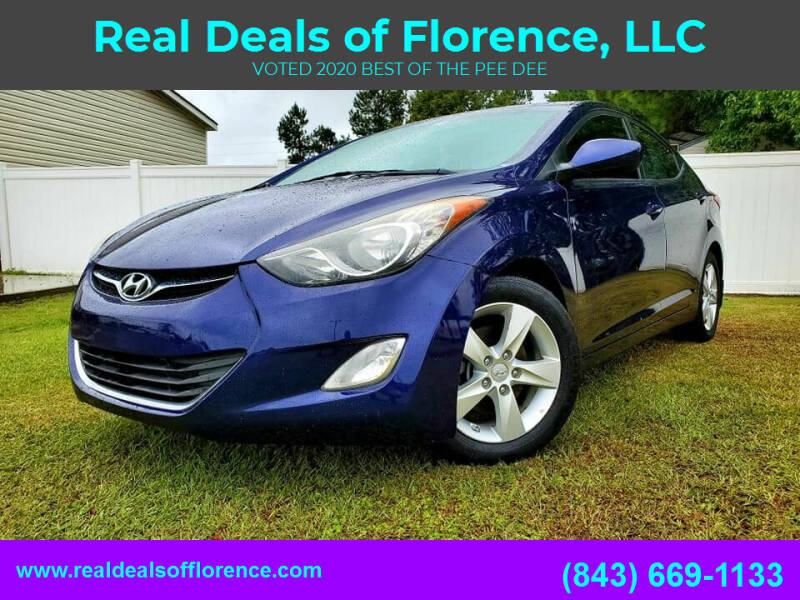2013 Hyundai Elantra for sale at Real Deals of Florence, LLC in Effingham SC