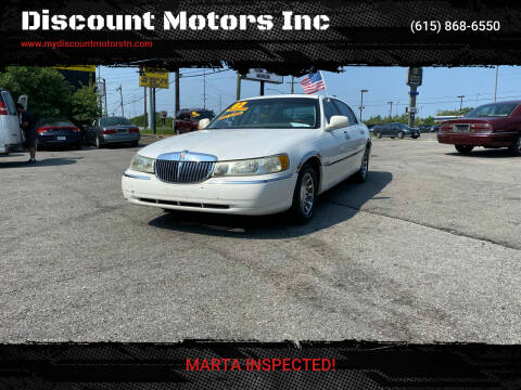 2002 Lincoln Town Car for sale at Discount Motors Inc in Madison TN