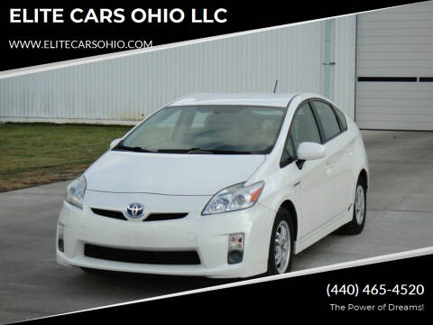 2010 Toyota Prius for sale at ELITE CARS OHIO LLC in Solon OH