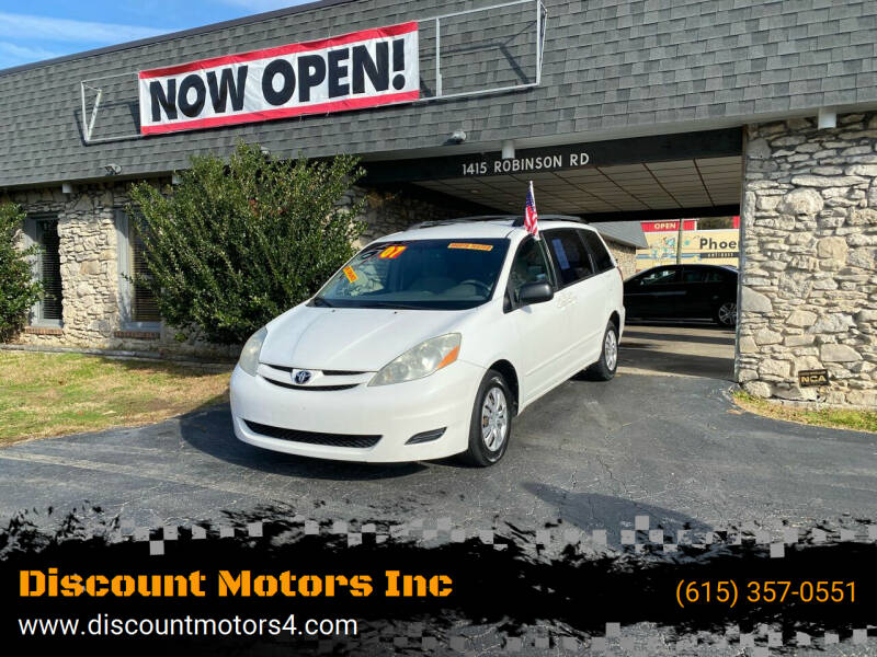 2007 Toyota Sienna for sale at Discount Motors Inc in Old Hickory TN