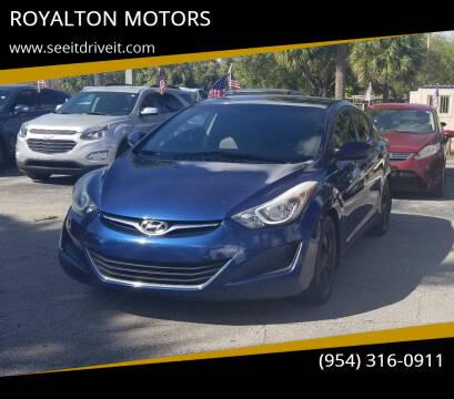 2015 Hyundai Elantra for sale at ROYALTON MOTORS in Plantation FL