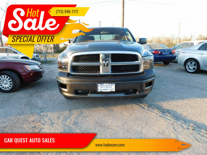 2009 Dodge Ram Pickup 1500 for sale at CAR QUEST AUTO SALES in Houston TX