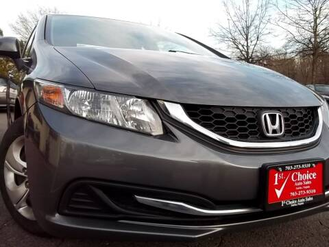 2013 Honda Civic for sale at 1st Choice Auto Sales in Fairfax VA