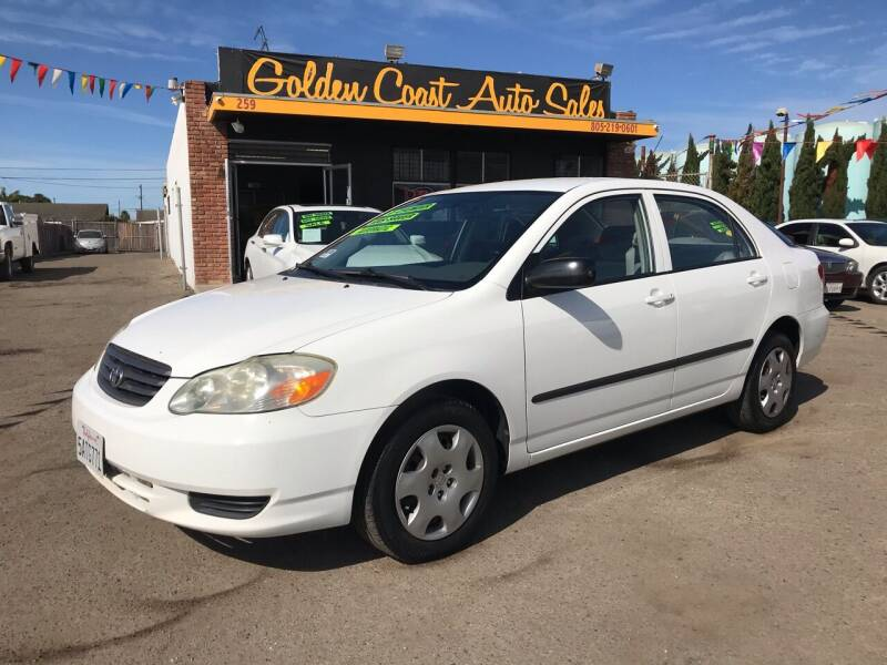 2003 Toyota Corolla for sale at Golden Coast Auto Sales in Guadalupe CA