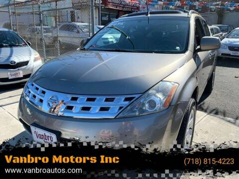 2004 Nissan Murano for sale at Vanbro Motors Inc in Staten Island NY