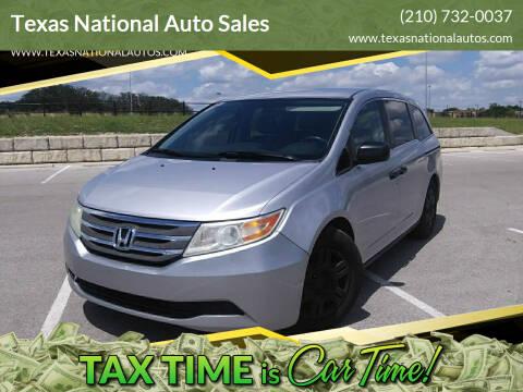 2013 Honda Odyssey for sale at Texas National Auto Sales in San Antonio TX