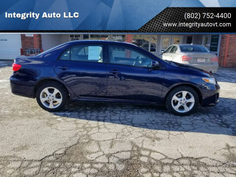 2012 Toyota Corolla for sale at Integrity Auto LLC - Integrity Auto 2.0 in St. Albans VT