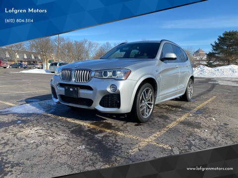 2016 BMW X3 for sale at Lofgren Motors in Wayzata MN