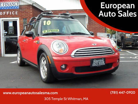 2010 MINI Cooper Clubman for sale at European Auto Sales in Whitman MA