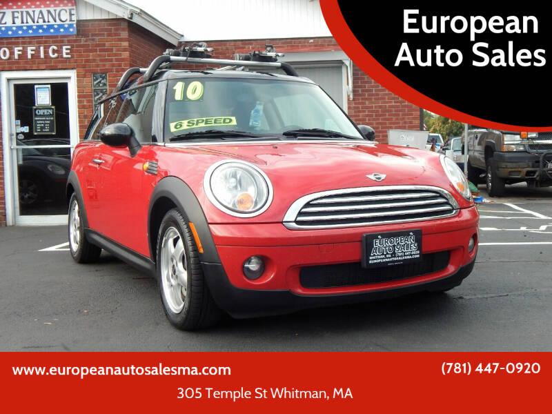 2010 MINI Cooper Clubman for sale at European Auto Sales in Whitman MA