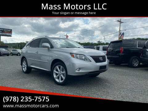 2012 Lexus RX 350 for sale at Mass Motors LLC in Worcester MA