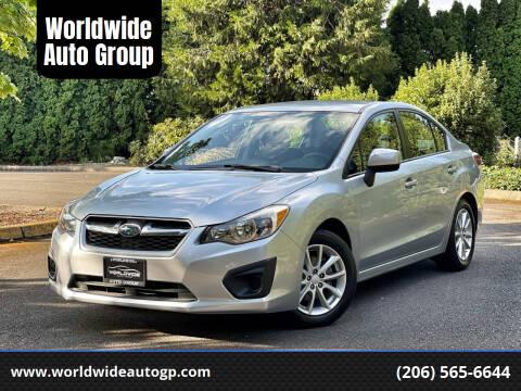 2013 Subaru Impreza for sale at Worldwide Auto Group in Auburn WA