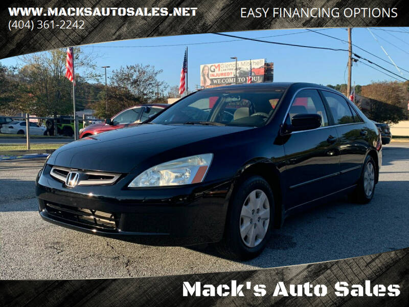 2003 Honda Accord for sale at Mack's Auto Sales in Forest Park GA