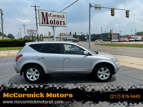 2007 Nissan Murano for sale at McCormick Motors in Decatur IL