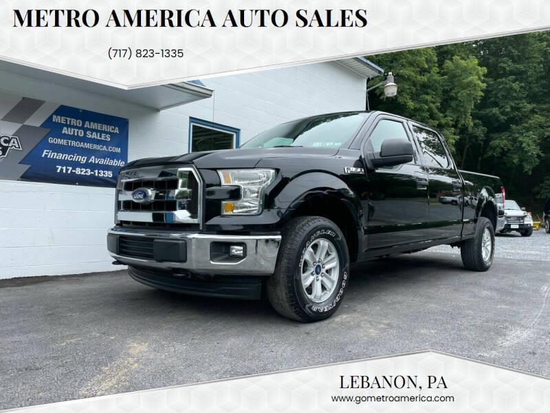 2017 Ford F-150 for sale at METRO AMERICA AUTO SALES of Lebanon in Lebanon PA