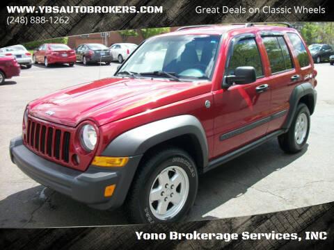 2006 Jeep Liberty for sale at Yono Brokerage Services, INC in Farmington MI