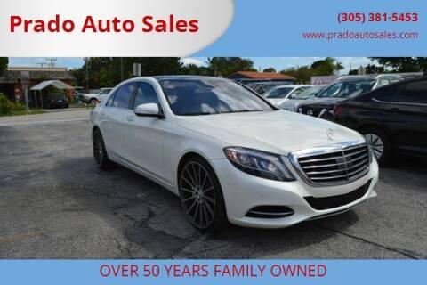 2014 Mercedes-Benz S-Class for sale at Prado Auto Sales in Miami FL