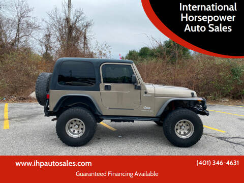 2003 Jeep Wrangler for sale at International Horsepower Auto Sales in Warwick RI