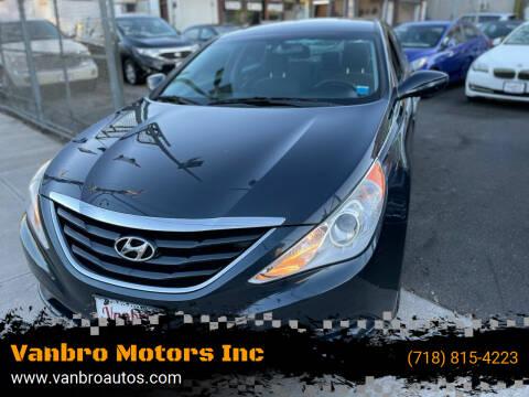 2012 Hyundai Sonata for sale at Vanbro Motors Inc in Staten Island NY