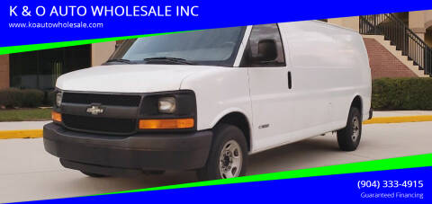 2004 Chevrolet Express Cargo for sale at K & O AUTO WHOLESALE INC in Jacksonville FL