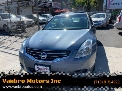 2012 Nissan Altima for sale at Vanbro Motors Inc in Staten Island NY