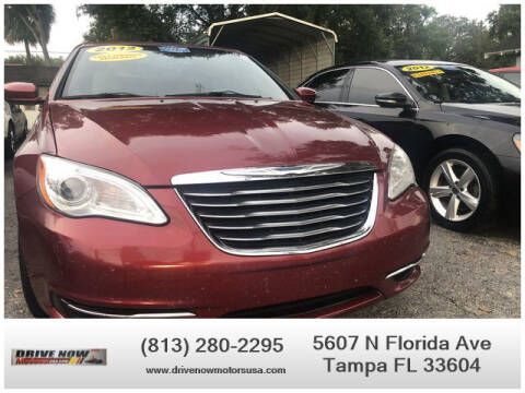 2012 Chrysler 200 Convertible for sale at Drive Now Motors USA in Tampa FL