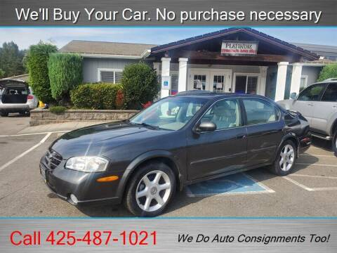 2001 Nissan Maxima for sale at Platinum Autos in Woodinville WA