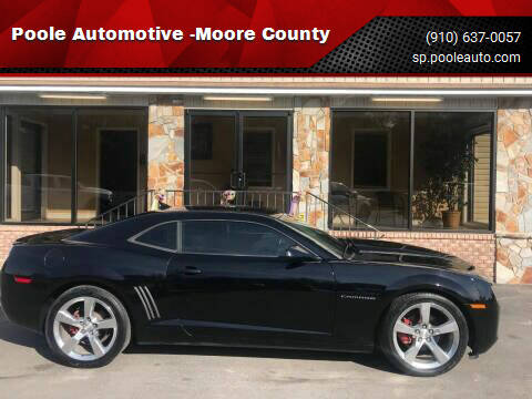 2013 Chevrolet Camaro for sale at Poole Automotive -Moore County in Aberdeen NC