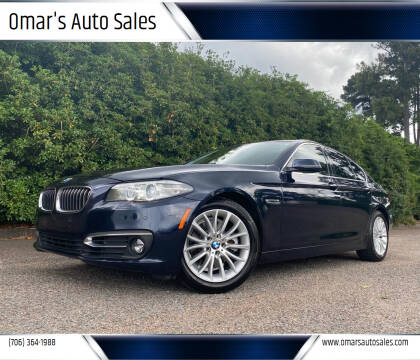 2015 BMW 5 Series for sale at Omar's Auto Sales in Martinez GA