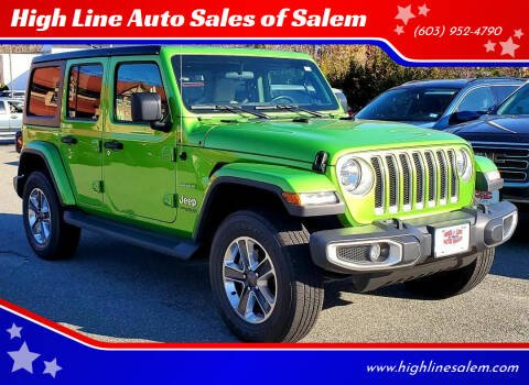 2020 Jeep Wrangler Unlimited for sale at High Line Auto Sales of Salem in Salem NH