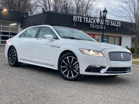 2020 Lincoln Continental for sale at Rite Track Auto Sales in Canton MI