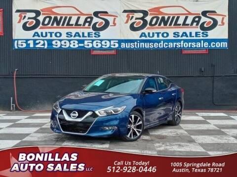 2018 Nissan Maxima for sale at Bonillas Auto Sales in Austin TX