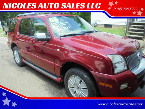 2006 Mercury Mountaineer for sale at NICOLES AUTO SALES LLC in Cream Ridge NJ