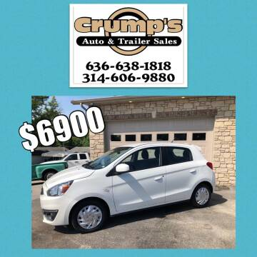 2017 Mitsubishi Mirage for sale at CRUMP'S AUTO & TRAILER SALES in Crystal City MO