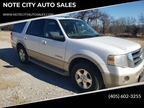 2007 Ford Expedition for sale at NOTE CITY AUTO SALES in Oklahoma City OK
