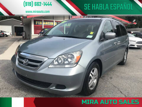 2007 Honda Odyssey for sale at Mira Auto Sales in Raleigh NC