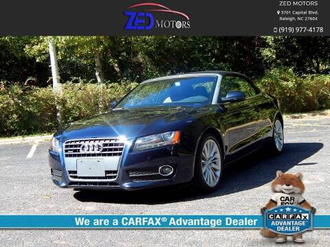 2010 Audi A5 for sale at Zed Motors in Raleigh NC