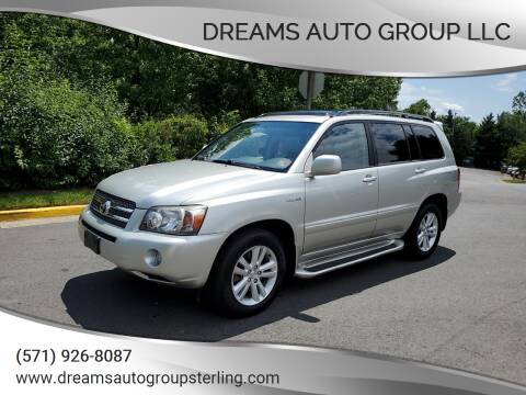 2006 Toyota Highlander Hybrid for sale at Dreams Auto Group LLC in Sterling VA