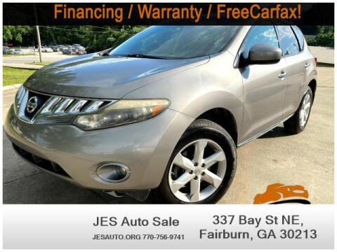 2009 Nissan Murano for sale at JES Auto Sales LLC in Fairburn GA